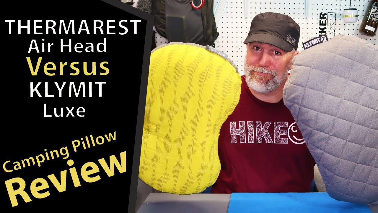 review thermarest airhead vs klymit luxe camping pillows