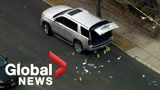 Aerial footage shows crime scene where notorious mob boss Francesco 'Franky Boy' Cali was killed thumbnail