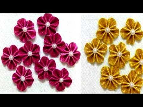 How to Make Foam flowers With Glitter Foam Sheet/Awesome Foam Flower For Guldasta Making/3D Crafts