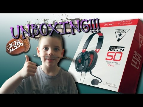 UNBOXING TURTLE BEACH RECON 50 HEADSET