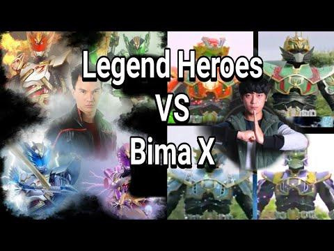 Legend Heroes Guan Yu VS Satria Garuda Bima X