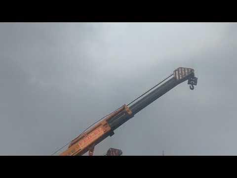 Big tree was loaded by Hydra 15 ton of FED-EL cranes in devanahalli near international airport.
