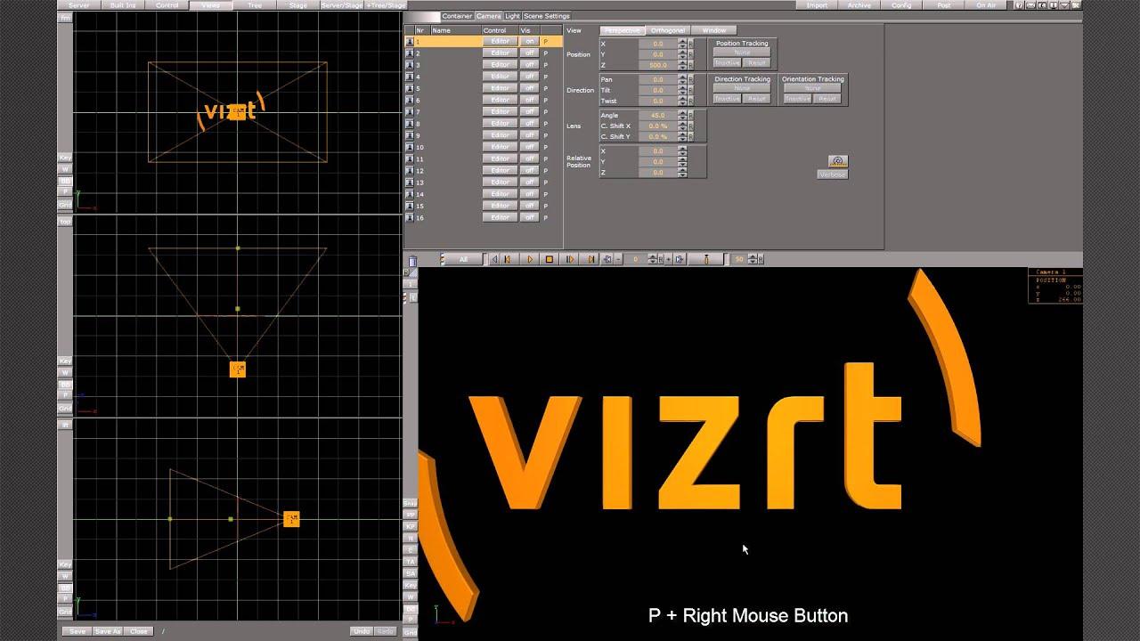 Viz Artist Scene Editor - Part 1/2