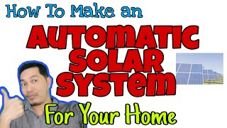 Learn how to make an automated solar power system for your home with the actual set-up I designed and have been running for 3 years now without fail or ...