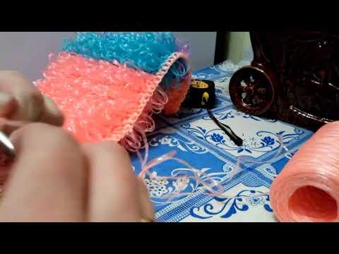 Ручки для мочалки шнур гусиничка крючком