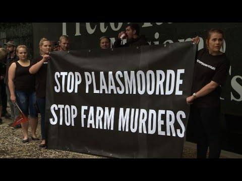 Hundreds protest murders of South African farmers