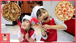 피자 가게 오픈? 최고의 요리사 변신! 어린이 요리놀이 주방놀이 ♡ 피자 만들기 먹방 리쏘빌 직업체험 놀이터 키즈카페 테마파크 놀이 kids | 말이야와아이들 MariAndKids