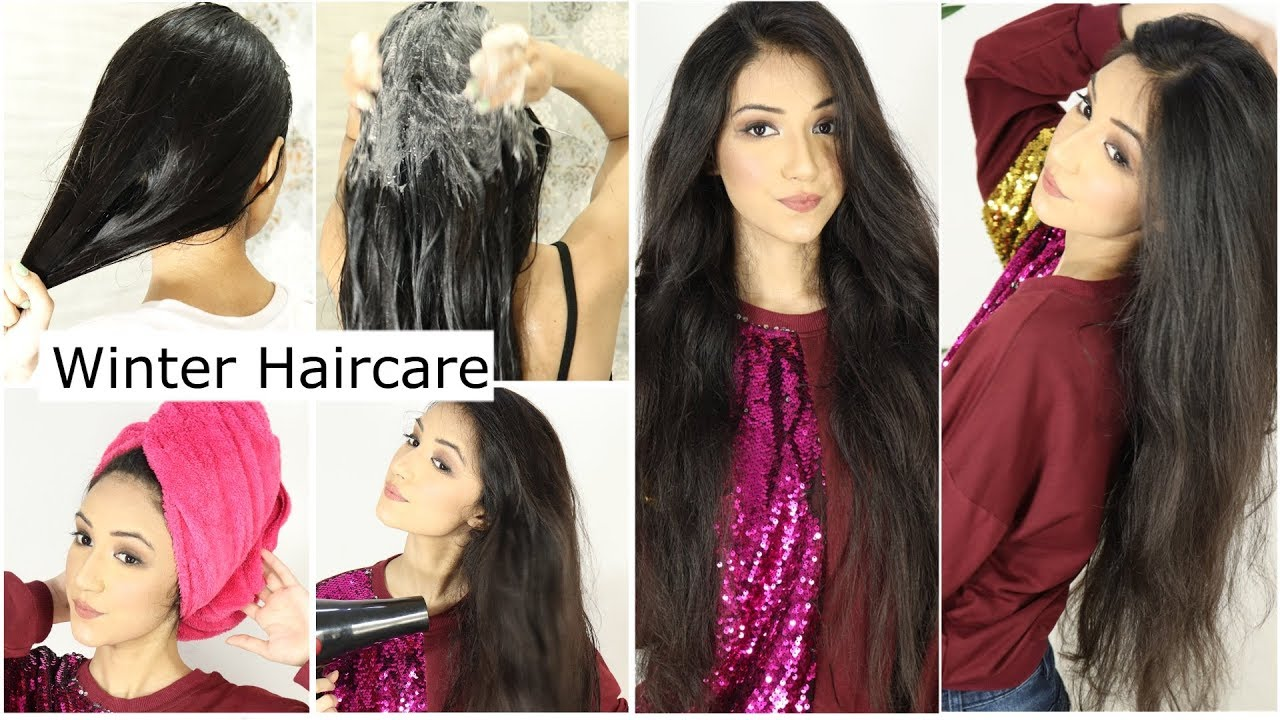 Winter Hair Care Routine No Dry Hair No Ruff Hair This Winter Only Smooth Silky And Shiny Hair Youtube