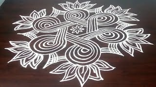 New Margazhi Kolam Design 5 x 3  DOTS ||  Easy Margazhai || Simple Margazhi  2018 || Fashion World