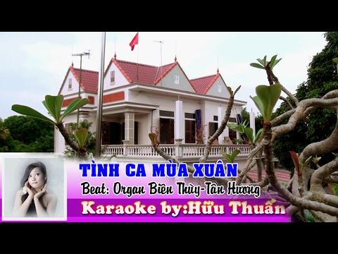 karaoke TÌNH CA MÙA XUÂN (Beat Song Ca ORGAN) Full HD