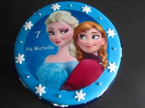 die eisk nigin elsa und anna fondant torte geburtstagstorte youtube. Black Bedroom Furniture Sets. Home Design Ideas