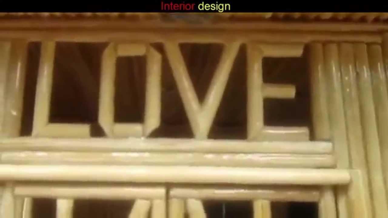 Toothpick House Simple Design Ideas Youtube