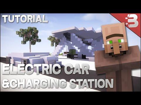 Minecraft: Electric Car (Tesla v3) + Charging Station [ VehicleTutorial ]
