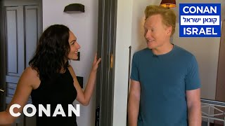 Conan Invites Himself To Gal Gadot's Apartment  - CONAN on TBS