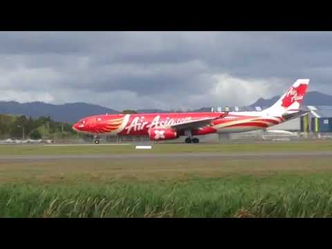 Air Asia X Phoenix livery departs to KUL