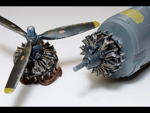 How to paint radial engine. 1/48 R-2800-31 Eduard - F6F hellcat - Great Guide