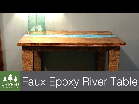 Faux Live Edge Epoxy River Table || How To