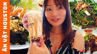 Ăn Sạch Houston - Bò Cuốn Lá Nho -Cơm Tấm -Bánh Mì Nguyễn Ngọ-Trà Sữa -Cắt Tóc Expo-Cuộc Sống Mỹ #64