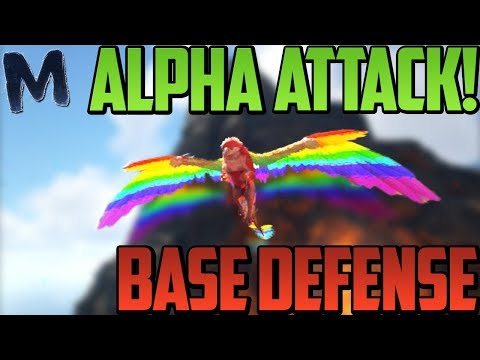 Ark RAID ATTACK ON ALPHAS!!! HILARIOUS BASE DEFENSE!!! (Ark OFFICIAL PvP)