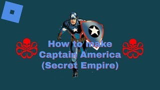 Roblox Super Hero Life II - How to make Captain America (Secret Empire)