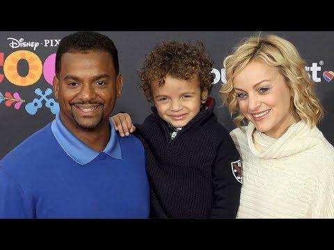 "Alfonso Ribeiro with his Family ""Coco"" US Premiere Orange Carpet"