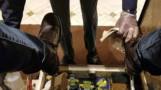 At the Bellagio again with a shoe shine in the restroom. ASMR
