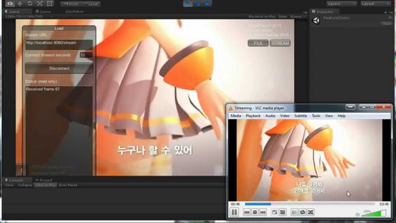 Streaming MJPEG with VLC to Unity AVI Player plugin