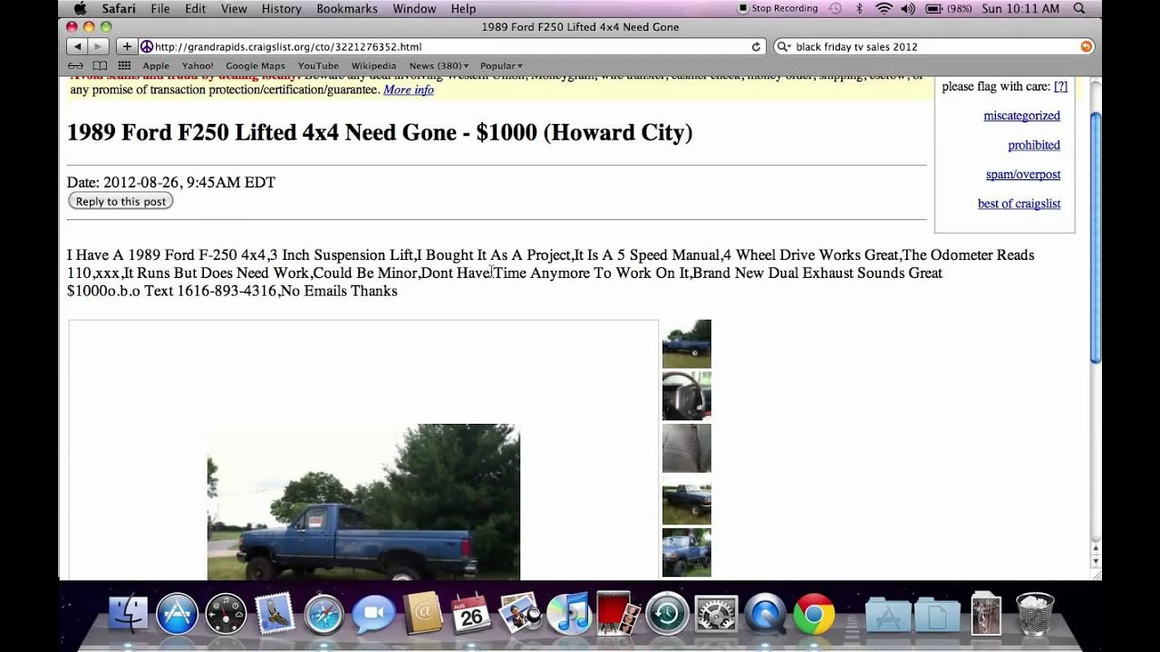 Craigslist grand rapids michigan used cars for sale by owner trucks popular in 2012 youtube