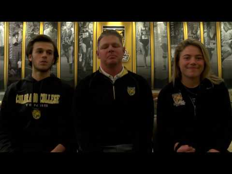 2017 Spring Media Days - Colorado College Tennis