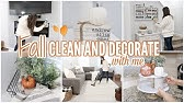 FALL CLEAN AND DECORATE WITH ME 2019 // CLEANING MOTIVATION// FALL HOME TOUR // Simply Allie