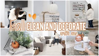 FALL CLEAN AND DECORATE WITH ME 2019 // CLEANING MOTIVATION  // FALL HOME TOUR // Simply Allie