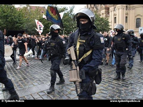 Pochod fanoušků Sparty Praha na stadion v Edenu - bezpečnostní opatření