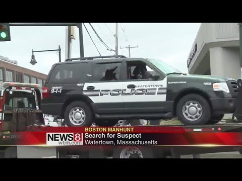 Police combing Watertown Mass for suspect