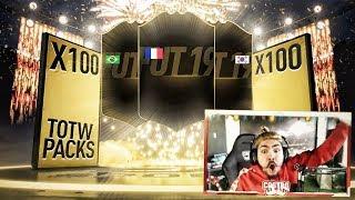100 GUARANTEED TOTW PACKS!! FIFA 19