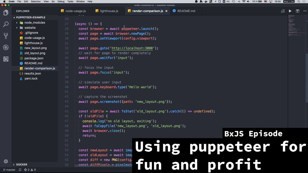 BxJS - Using Puppeteer for fun and profit