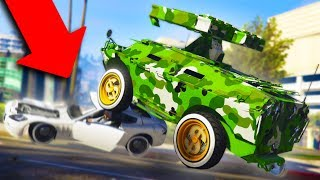 LOOK WHAT IT DID TO THEIR CAR! *APC TROLLING!* | GTA 5 THUG LIFE #168