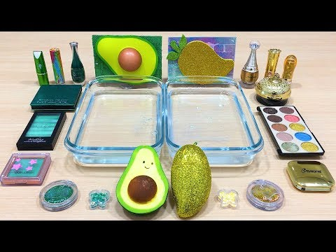 Avocado Vs Mango ! Mixing Makeup Eyeshadow Into Clear Slime ! Special Series #96 Satisfying Slime