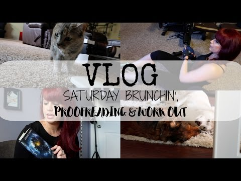 VLOG | Proofreading & Home Gym Workout