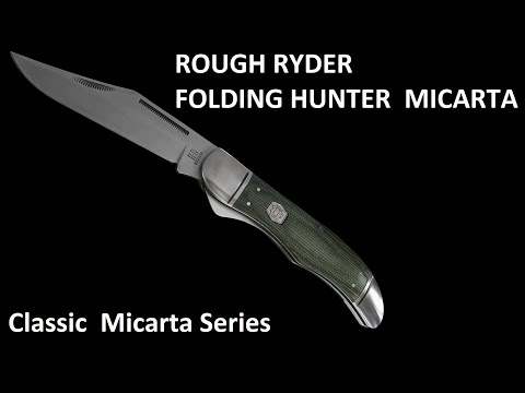 ROUGH RYDER FOLDING HUNTER CLASSIC MICARTA