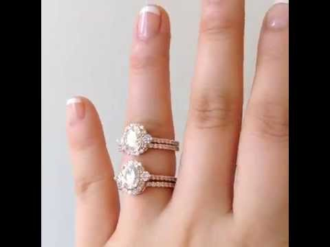 Bridgette setting with a Diamond vs Moissanite
