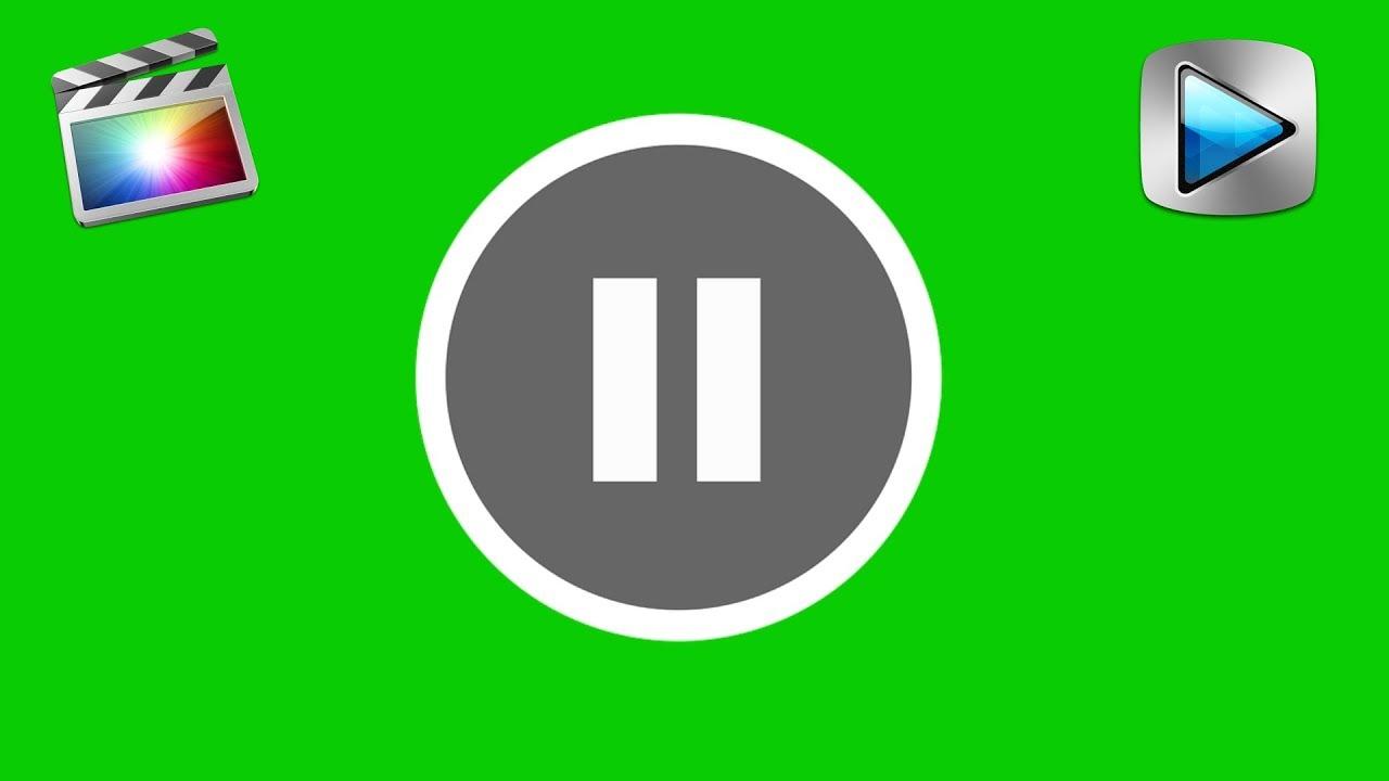 Pause Button - Green Screen Footage Free [ Final Cut ]