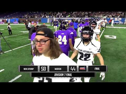 New Lothrop Vs. Madison Heights Madison | Division 7 Football Final | STATE CHAMPS! Michigan