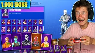 LITTLE BROTHERS 10 000 $ SKIN COLLECTION IN FORTNITE WORLD RECORD (1000 SKINS)