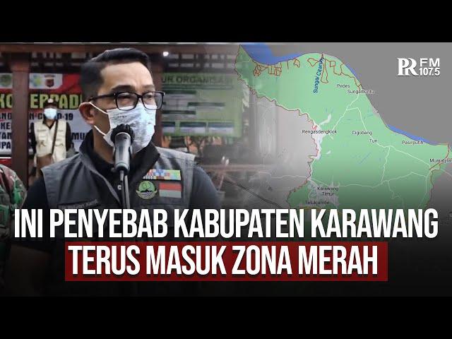 Tujuh Pekan Masuk Zona Merah, Gubernur Jabar Ridwan Kamil Datang Langsung Ke Karawang
