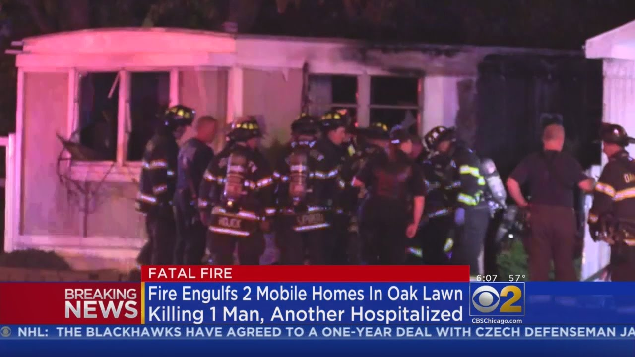 One Killed Injured In Mobile Home Park Fire Oak Lawn