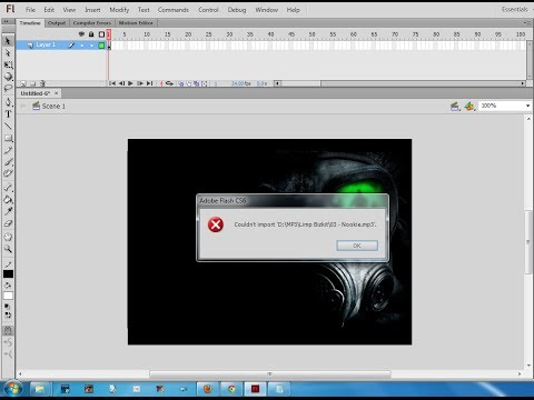 Fix Error Importing Audio Files in Adobe Flash CS5 / CS6