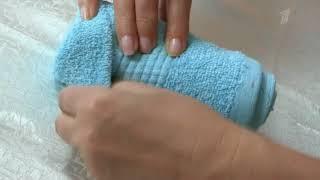 Как красиво сложить полотенце Video