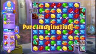 Wonka's World of Candy Level 245 - NO BOOSTERS + FULL STORY ???? | SKILLGAMING ✔️