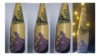 #lord krishna bottle painting#bottle craft /Bottle painting /bottle art