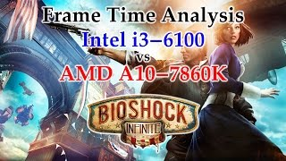 A10-7860K vs i3-6100 Frame Time Analysis - Bioshock Infinite